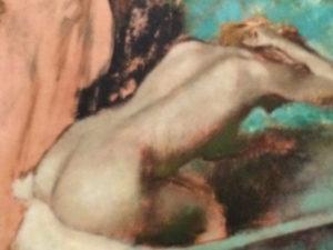 Degas woman bathing