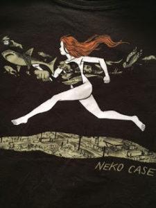Detail from Neko Case tour t-shirt