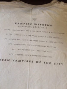 Vampire Weekend Australian Tour t-shirt
