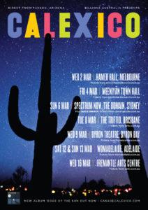 Calexico tour poster