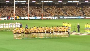 Hawthorn v Adelaide - the national anthem