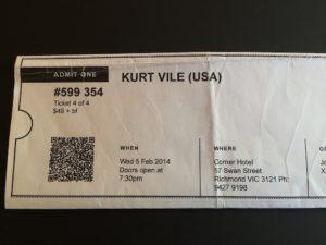 Kurt Vile ticket