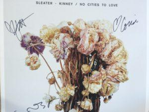 Sleater-Kinney signed album