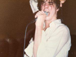 Nick on stage 1982