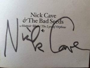 Nick Cave signature
