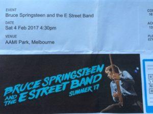 Springsteen ticket